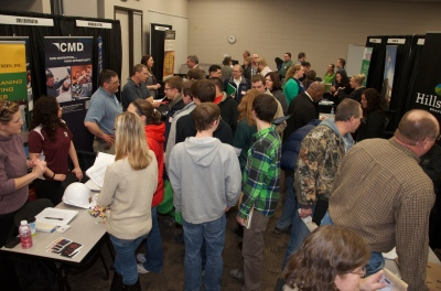 Over 450 visitors attended the job fair.