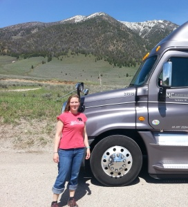 Robin Grapa enjoys life on the road after completing her Truck Driving training at FVTC.