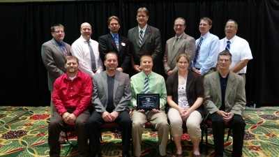 Members of FVTC's Ag team gathered to receive their state award.