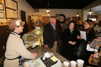 Venture Center Instructor Mark Burwell and Camille Solberg from U.S. Senator Ron Johnson's office joined me for a tour of Mama Z's Bakery and visit with owner Mitzi Wohlrabe.