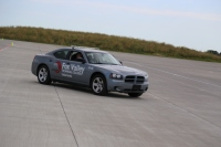 Renowned author Karin Slaughter was in this vehicle during a high-speed ride on our skid pad.