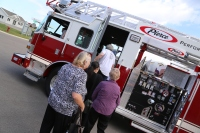 Crime writers boarded one of our state-of-the-art Pierce fire trucks for an experiential ride.