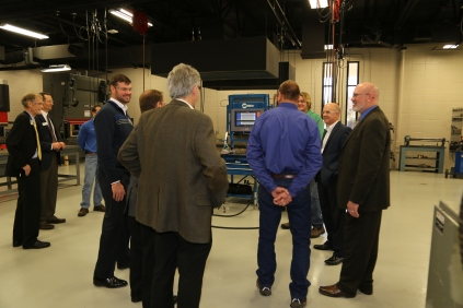 Leaders from Miller Electric Mfg. Co. joined us for a tour of our expanded Appleton welding lab and new technologies.